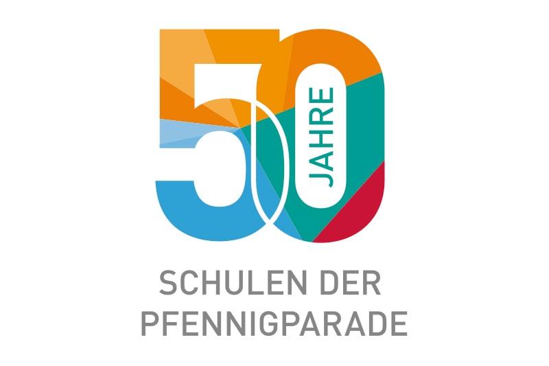 Logo 50 Jahre Schulen der Pfennigparade