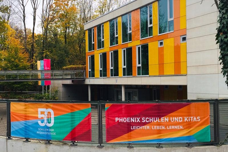Außenfassade der Phönix-Schulen und Kitas
