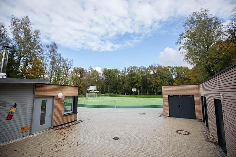 Sportplatz auf dem INSEL-Gelände der Stiftung Pfennigparade