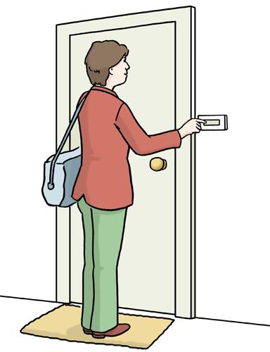Sozialpädagoge klingelt an Wohnungstür