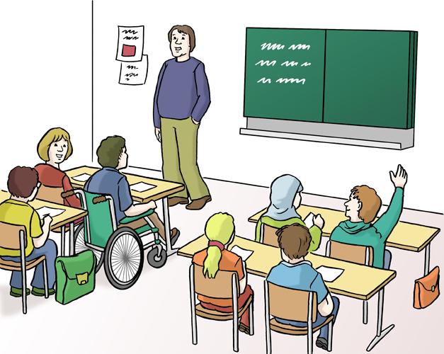 Ein inklusives Klassenzimmer