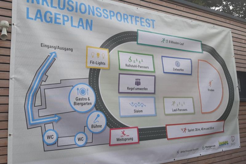 Lageplan für das Inklusionssportfest