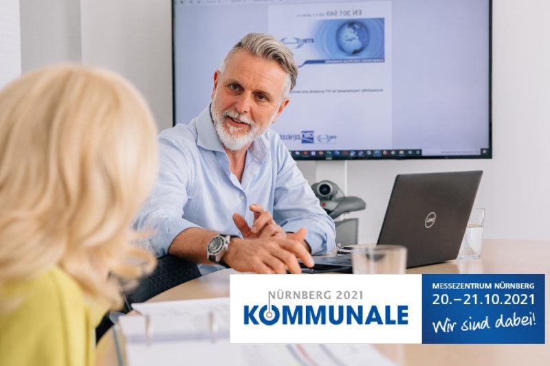 Logo Nürnberg 2021 Kommunale Messezentrum Nürnberg, 20.-21.10.2021 Wir sind dabei!