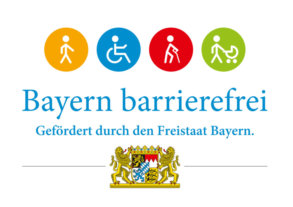 Logo Bayern barrierefrei Gefördert durch den Freistaat Bayern